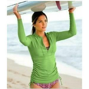 Athleta Ruched Guard Cover Up/Swim Dress UPF 50